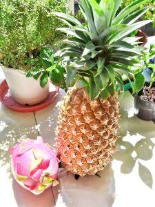 Frutas tropicales de la isla.